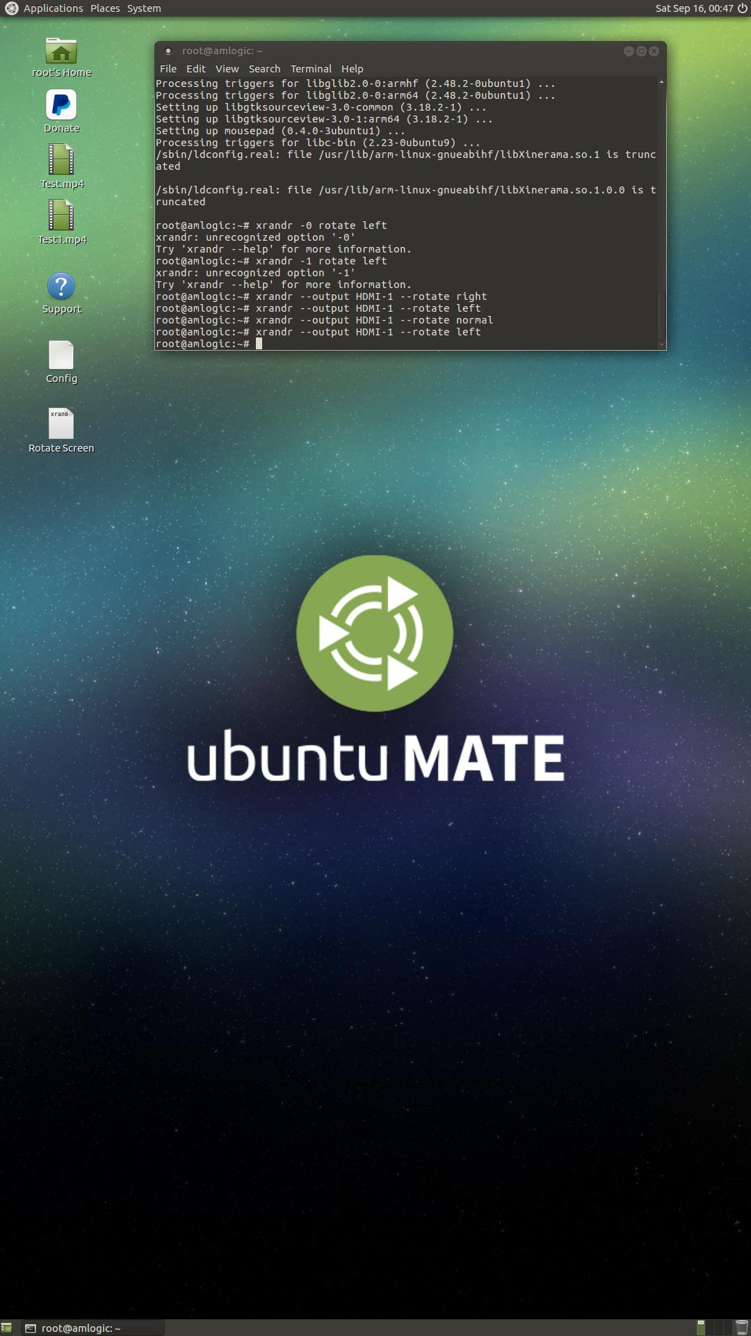Rotation display Ubuntu-Mate - General Discussion - Khadas Community