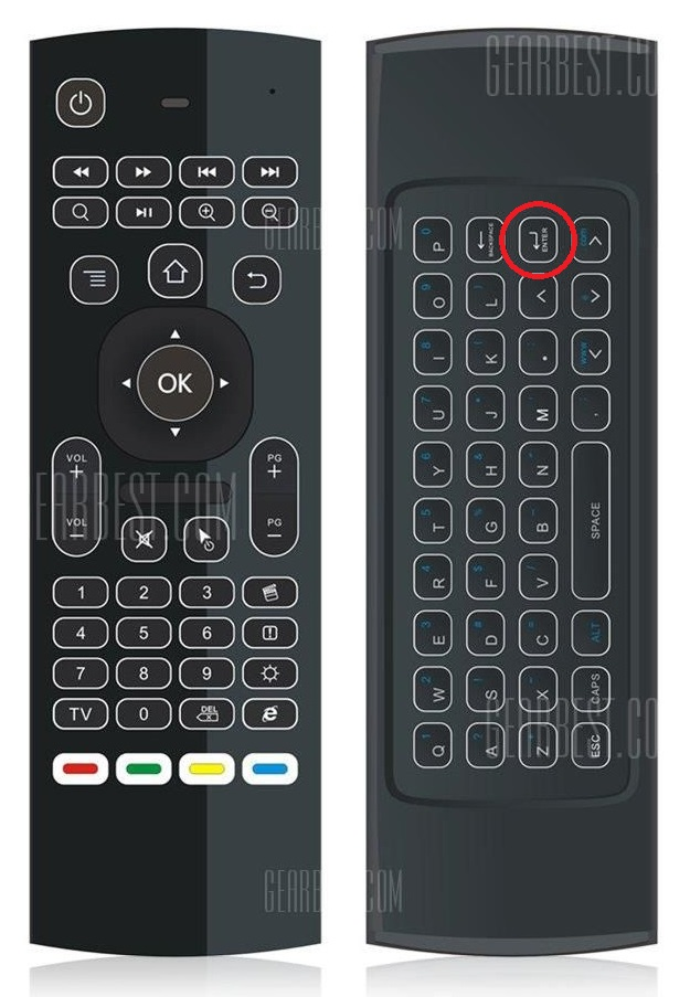 wireless air mouse qwerty keyboard enter button doesn 39 t work as enter function khadas vim2. Black Bedroom Furniture Sets. Home Design Ideas