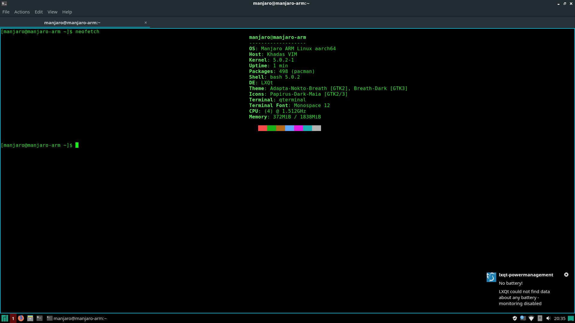 Manjaro Linux - Desktop Environment for VIM1 & VIM3 - VIM1